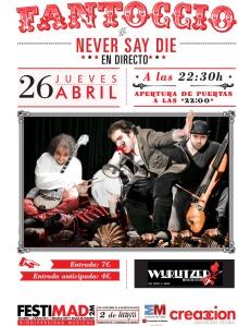 Cartel concierto fantoccio en el wurtlizer realizado por Noelia Lozano